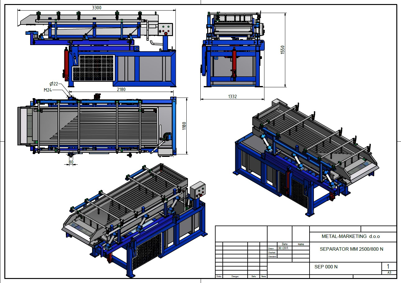 Project for separator