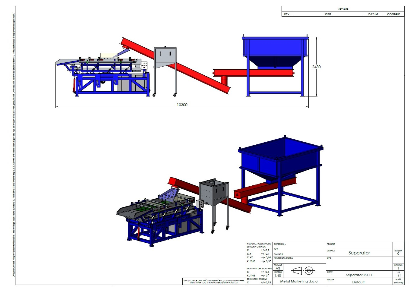 Project 2: separator making